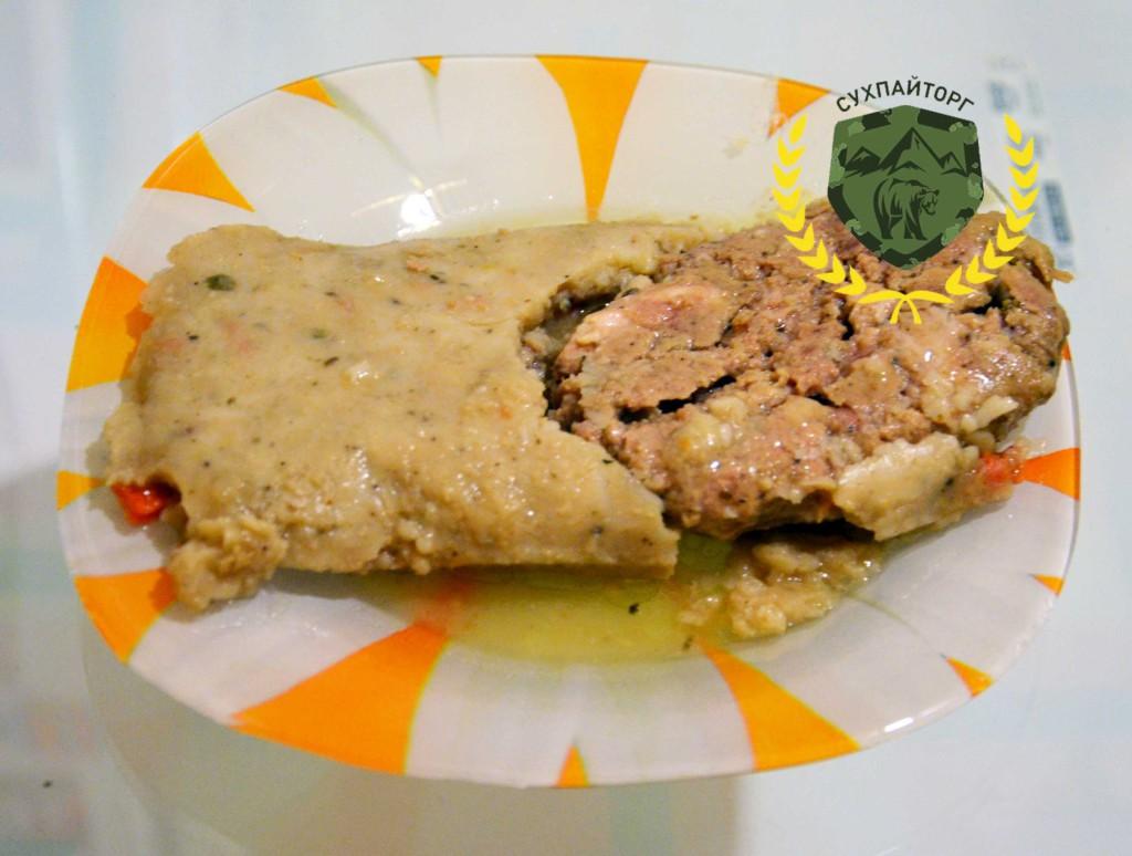 Рис со свиной в Литовском сухом пайке